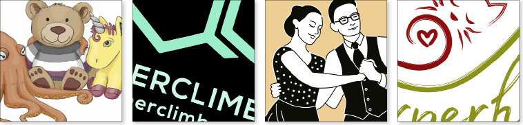 Ausschnitte aus Grafikdesign für Illustration, Logo, Icon, Zeichnung, Vektorgrafik